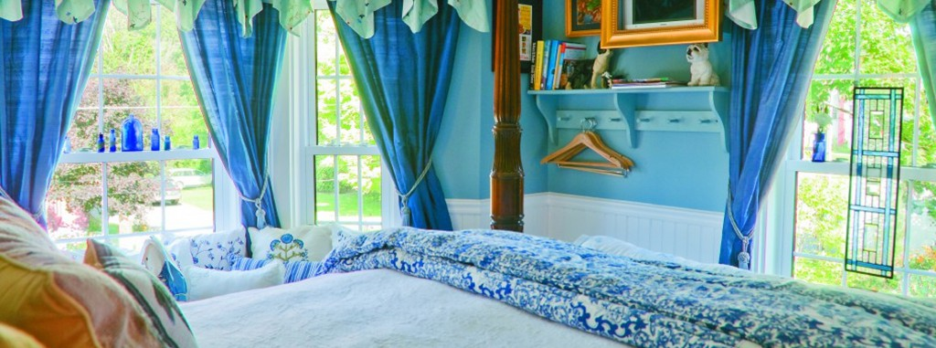 jay peak hotel bed and breakfast blue room at the Phineas Swann Bed and Breakfast Inn in Montgomery Center Vermont