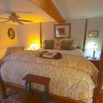 California King Bed In Honeymoon Suite is Our Largest Bed - Romantic Vermont getaway spot